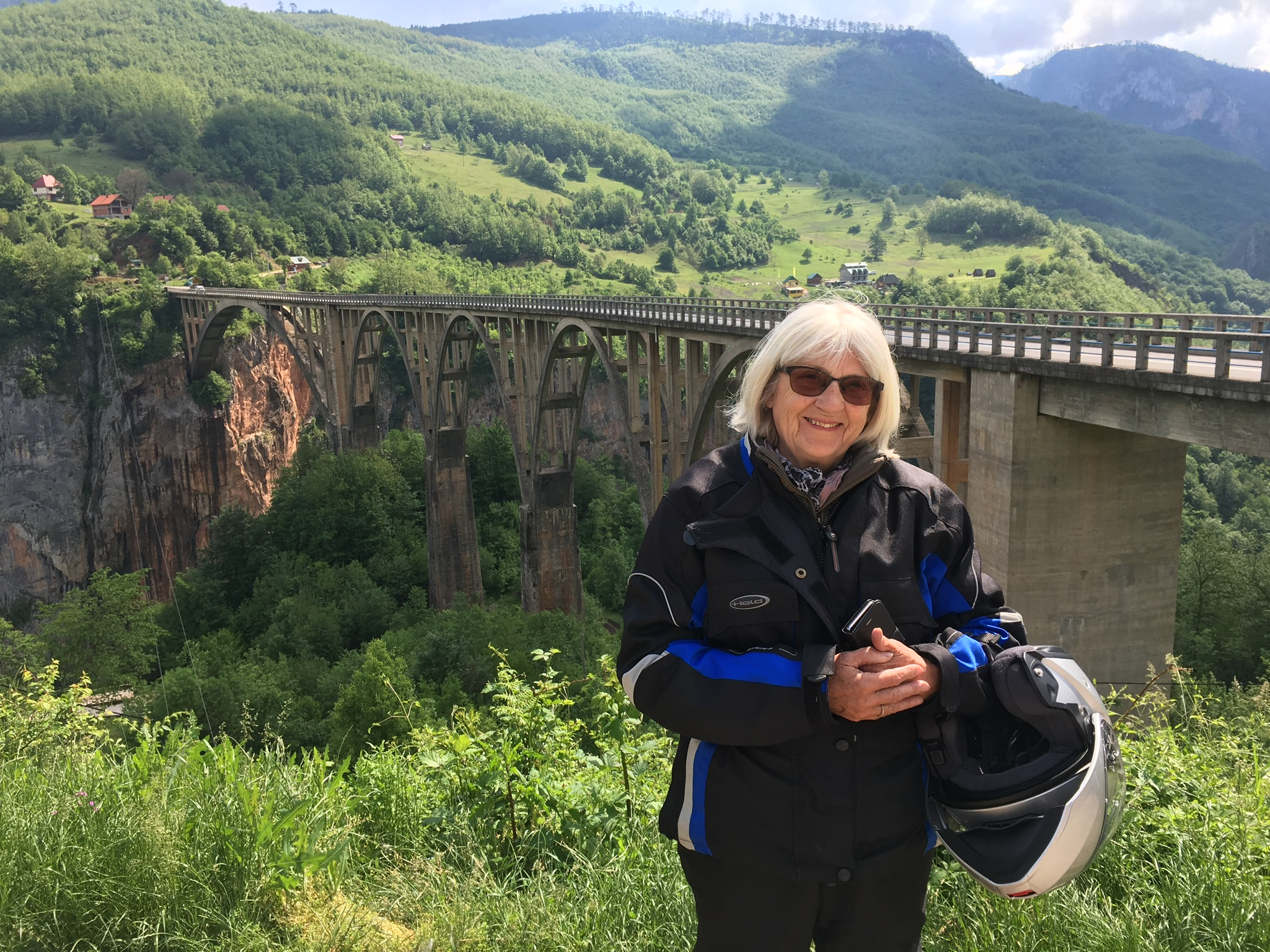 My other at the bridge over Piva canyon